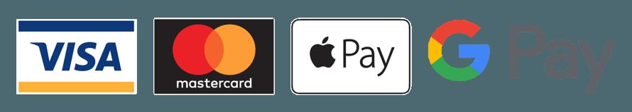 Visa Mastercard ApplePay GooglePay
